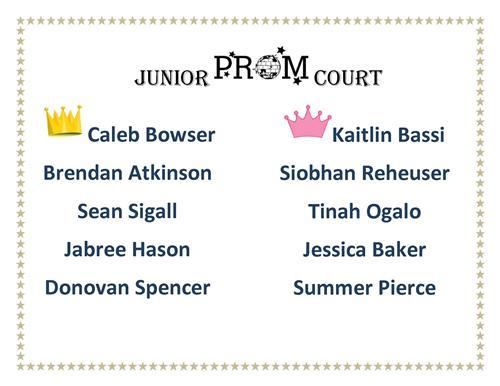 Jr. Prom Court 2015