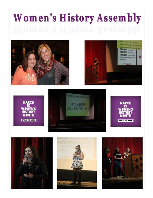 Women's History Month Assembly 2018 1