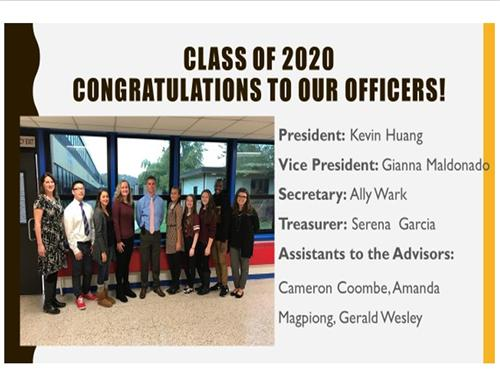 2020 Class Officers