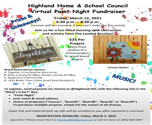 <br><font size=5><font color=blue>Home And School Fundraiser